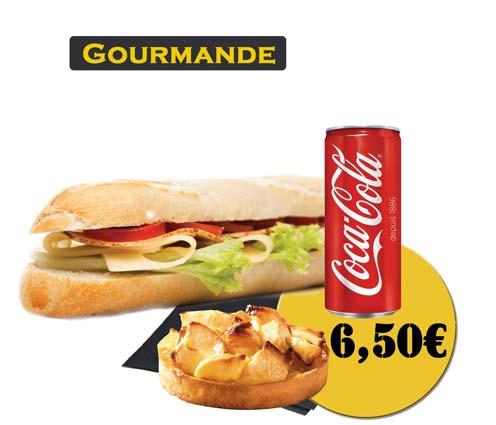 Sandwich - En'K-formule gourmande - Boisson 33cl