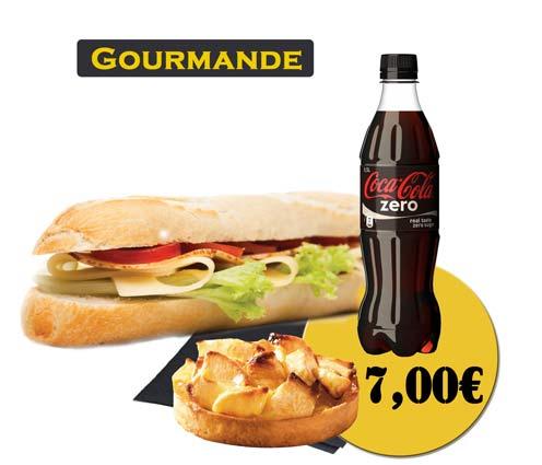 Sandwich - En'K - Formule Gourmande - Boisson 50cl