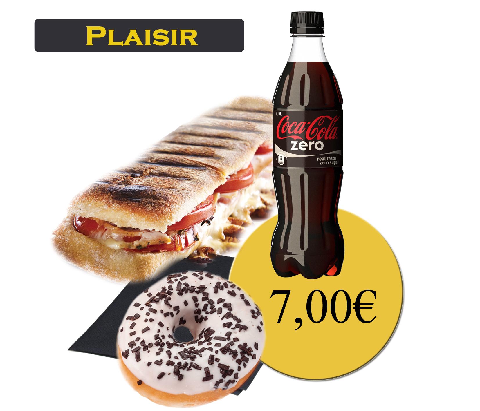 formule plaisir avec panini et boisson 50cl