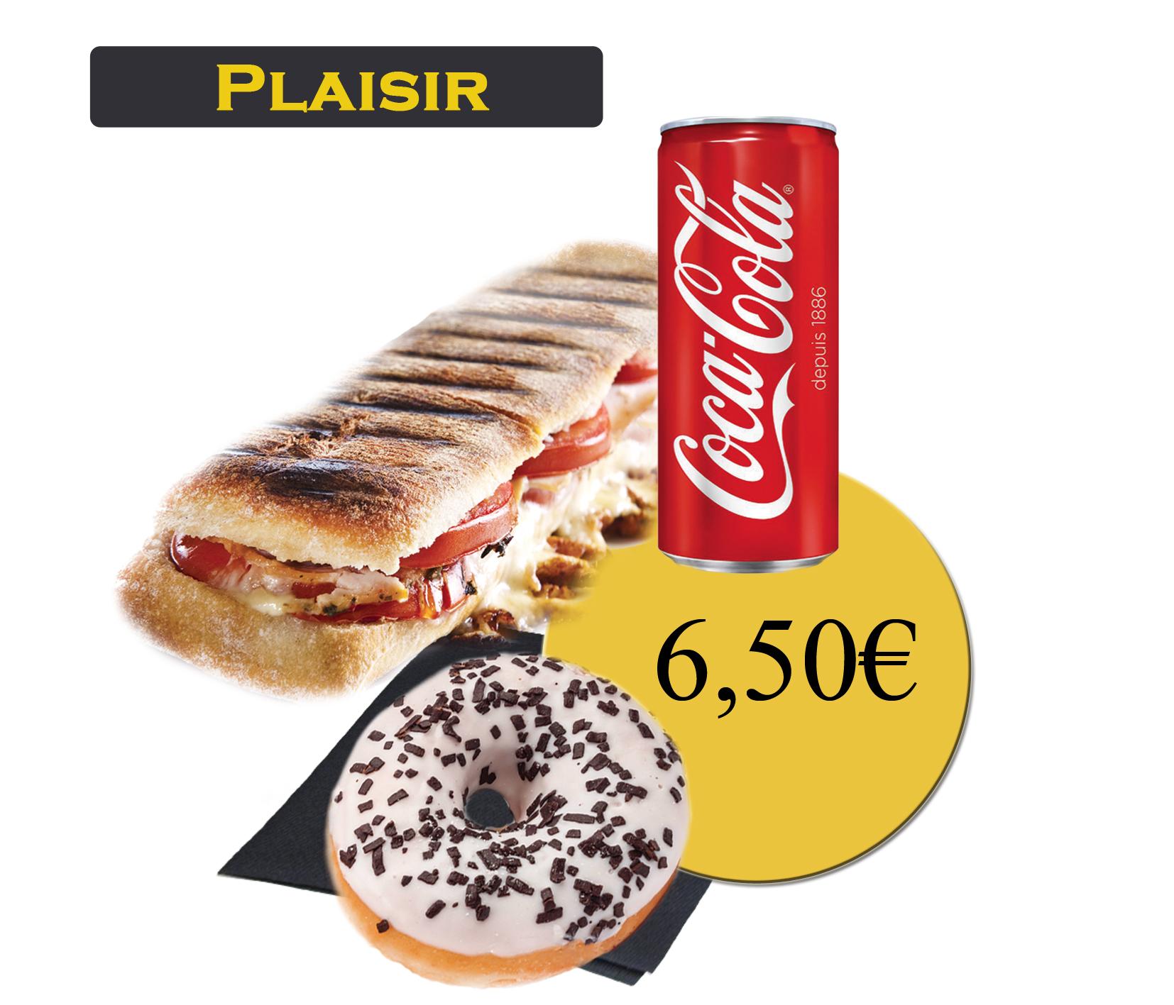 formule plaisir avec panini et boisson 33cl