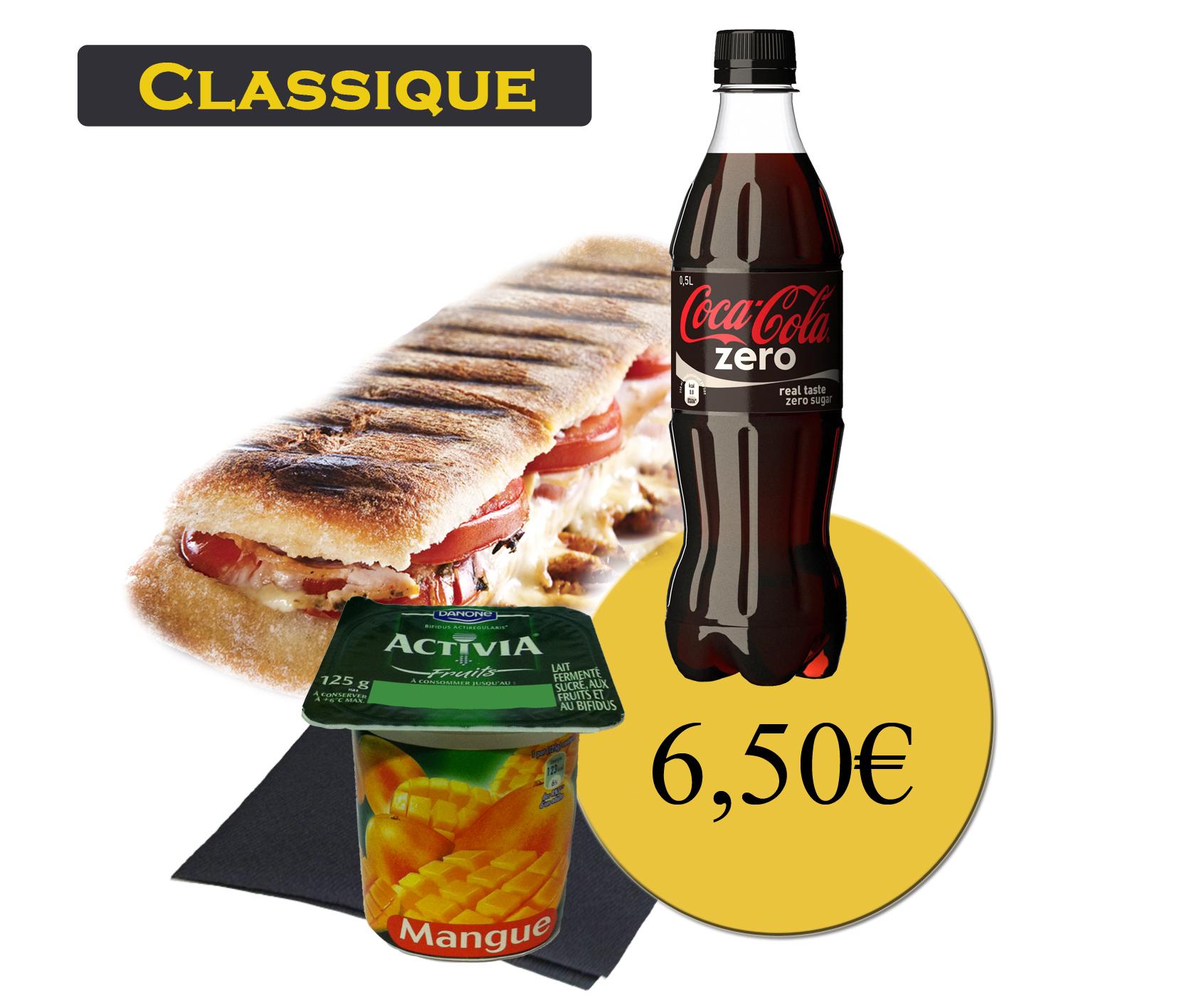 formule classique avec panini et boisson 50cl