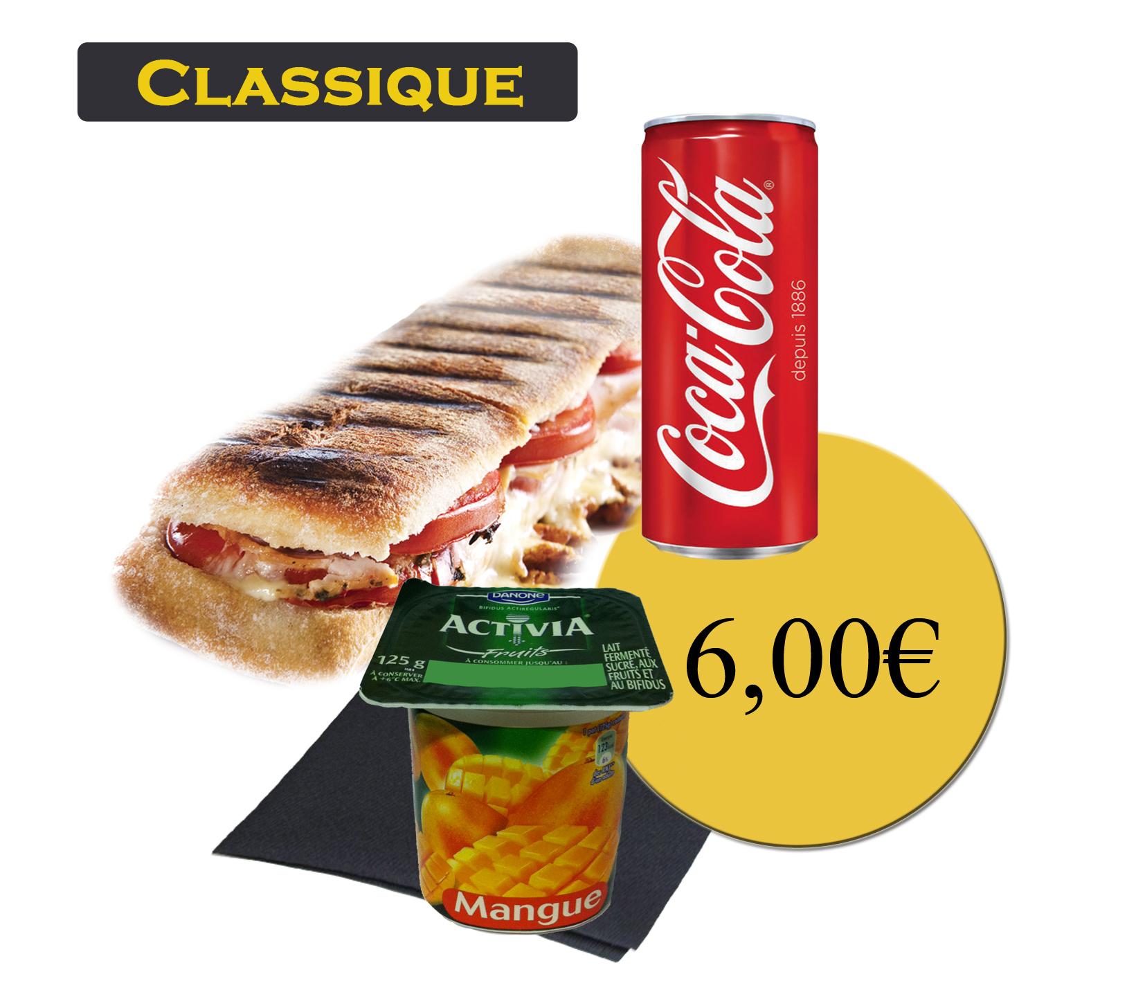 formule classique avec panini et boisson 33cl