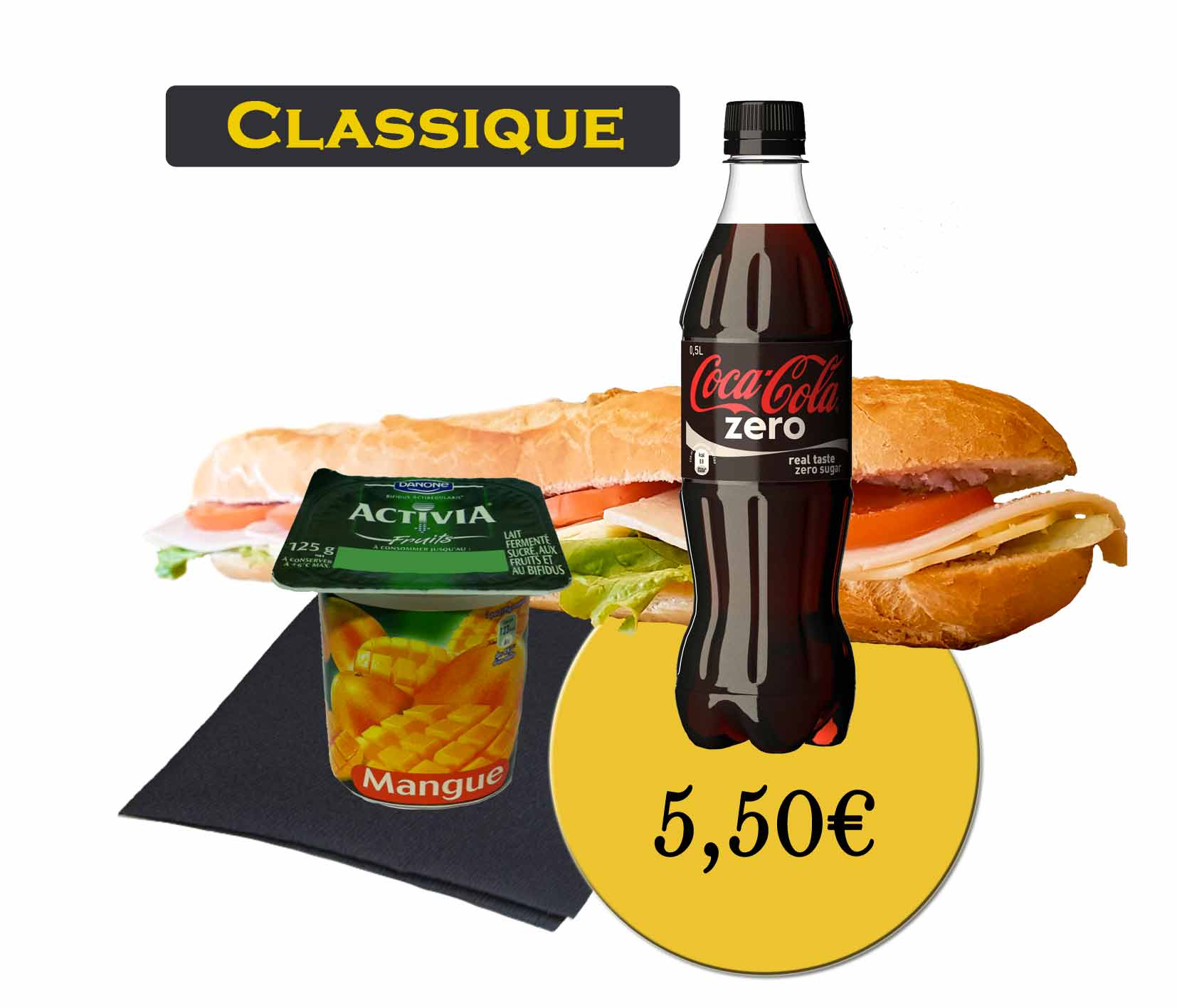 formule classique sandwich - En'K - boisson 50cl