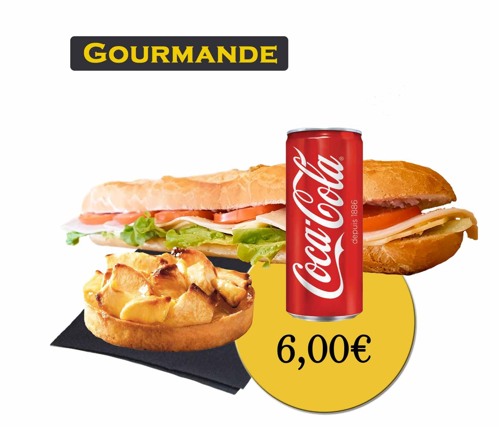 formule gourmande sandwich - En'K - boisson 33cl