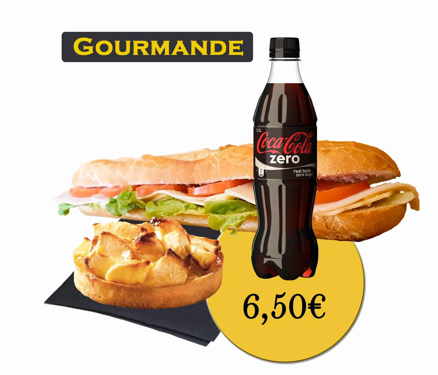 formule gourmande sandwich - En'K - boisson 50cl
